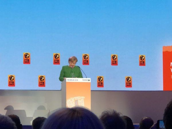 ITB Berlin 2018: grand opening ceremony with German Chancellor Angela Merkel